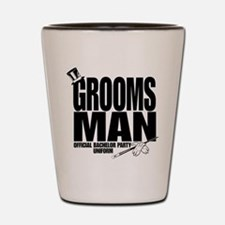 GROOMS MAN BLK.png Shot Glass