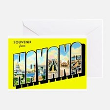 Havana Cuba Greetings Greeting Card