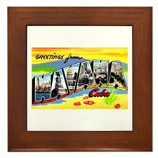 Havana Cuba Greetings Framed Tile