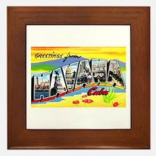 Havana Cuba Greetings Framed Tile