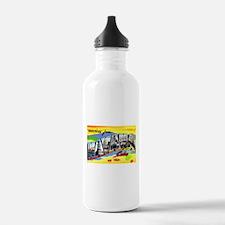 Havana Cuba Greetings Water Bottle