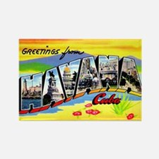 Havana Cuba Greetings Rectangle Magnet