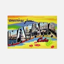 Havana Cuba Greetings Rectangle Magnet (10 pack)