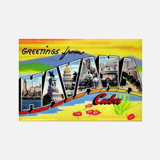 Havana Cuba Greetings Rectangle Magnet (10 pack)