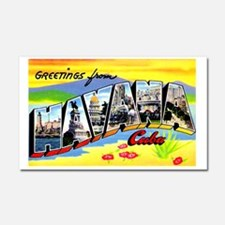Havana Cuba Greetings Car Magnet 20 x 12