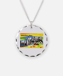 Havana Cuba Greetings Necklace