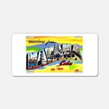 Havana Cuba Greetings Aluminum License Plate