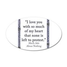 I Love You With So Much Of My Heart Wall Decal