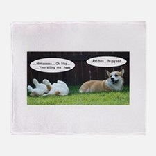corgifunnies.BMP Throw Blanket