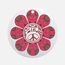 Peace Flower - Affection Ornament (Round)