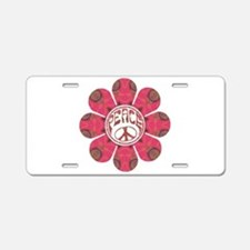 Peace Flower - Affection Aluminum License Plate