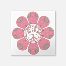 "Peace Flower - Affection Square Sticker 3"" x"