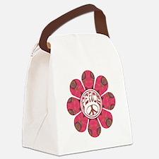 Peace Flower - Affection Canvas Lunch Bag
