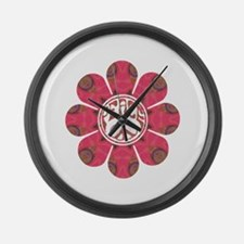 Peace Flower - Affection Large Wall Clock