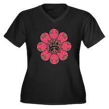 Peace Flower - Affection Women's Plus Size V-Neck