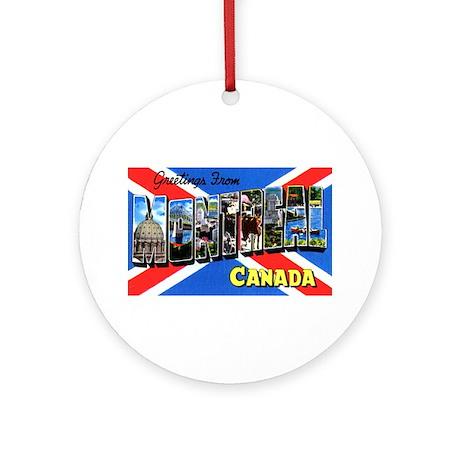 Montreal Quebec Canada Ornament (Round)
