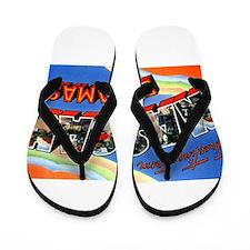 Nassau Bahamas Greetings Flip Flops