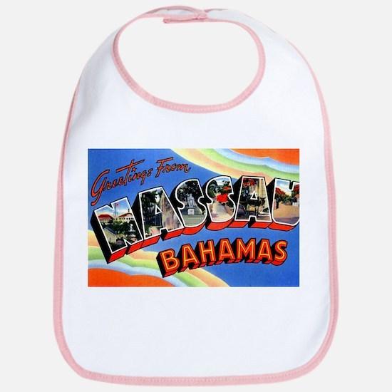 Nassau Bahamas Greetings Bib