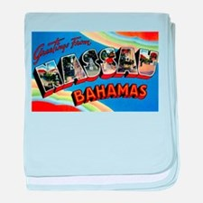 Nassau Bahamas Greetings baby blanket