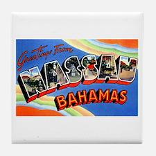 Nassau Bahamas Greetings Tile Coaster