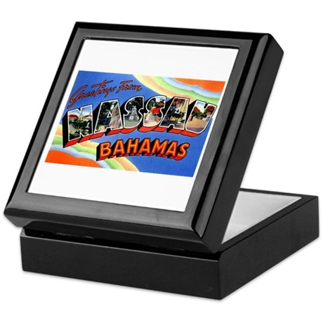 Nassau Bahamas Greetings Keepsake Box