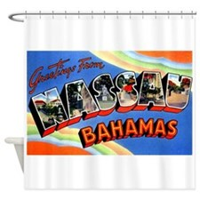 Nassau Bahamas Greetings Shower Curtain