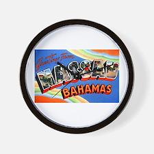 Nassau Bahamas Greetings Wall Clock