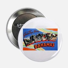 "Nassau Bahamas Greetings 2.25"" Button"