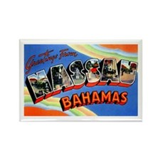 Nassau Bahamas Greetings Rectangle Magnet