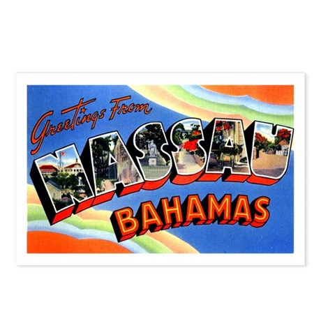 Nassau Bahamas Greetings Postcards (Package of 8)