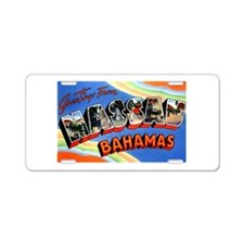 Nassau Bahamas Greetings Aluminum License Plate