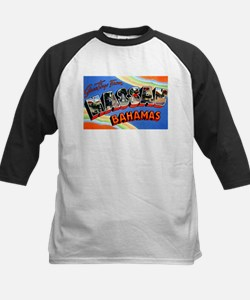 Nassau Bahamas Greetings Kids Baseball Jersey