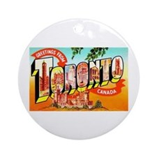 Toronto Ontario Canada Greetings Ornament (Round)