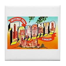 Toronto Ontario Canada Greetings Tile Coaster