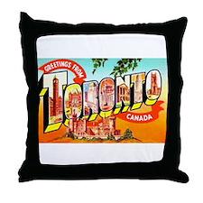 Toronto Ontario Canada Greetings Throw Pillow