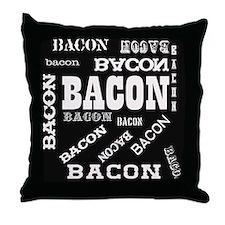 Bacon Bacon Bacon Throw Pillow