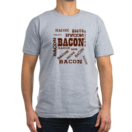 Bacon Bacon Bacon Men's Fitted T-Shirt (dark)