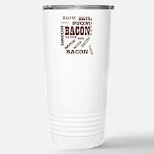 Bacon Bacon Bacon Stainless Steel Travel Mug