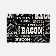 Bacon Bacon Bacon Rectangle Magnet (100 pack)