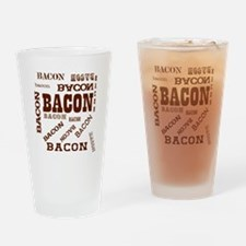 Bacon Bacon Bacon Drinking Glass