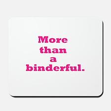 More than a binderful. Mousepad