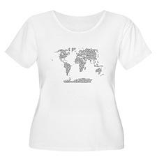 Word Map Women's Plus Size Scoop Neck T-Shirt