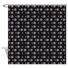 Chic Black Gray Shapes Designer Shower Curtain