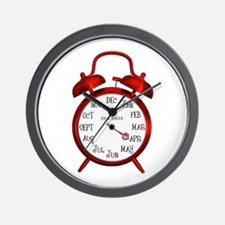 Red Alarm April Due Date Center.png Wall Clock