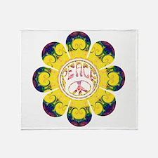 Peace Flower - Omm Throw Blanket