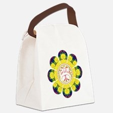 Peace Flower - Omm Canvas Lunch Bag