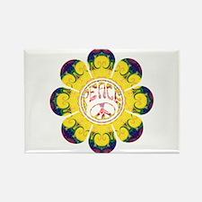 Peace Flower - Omm Rectangle Magnet
