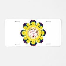 Peace Flower - Omm Aluminum License Plate
