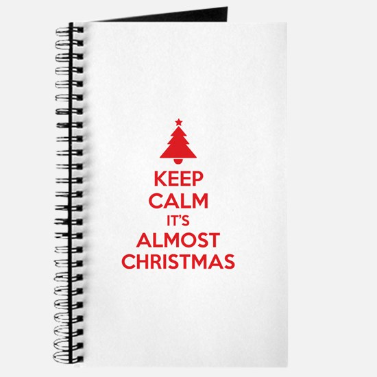 Keep calm it's almost christmas Journal