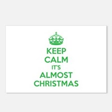 Keep calm it's almost christmas Postcards (Package